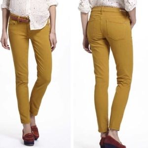 Pilcro & the Letterpress Mustard Stet Skinny Jeans
